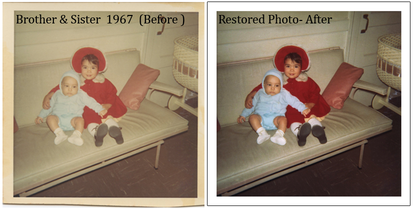 Vintage Photo Restoration 1960s