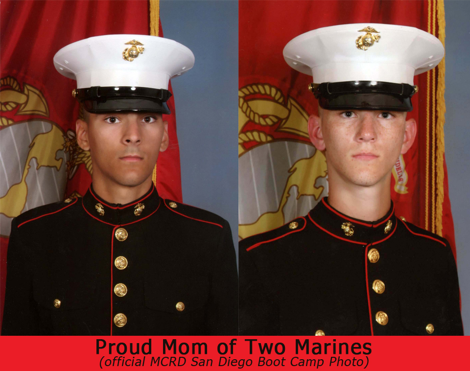 A letter from a marine mom proud mom of two us marines cafepress usmc coin greeting cards bookmarktalkfo Gallery